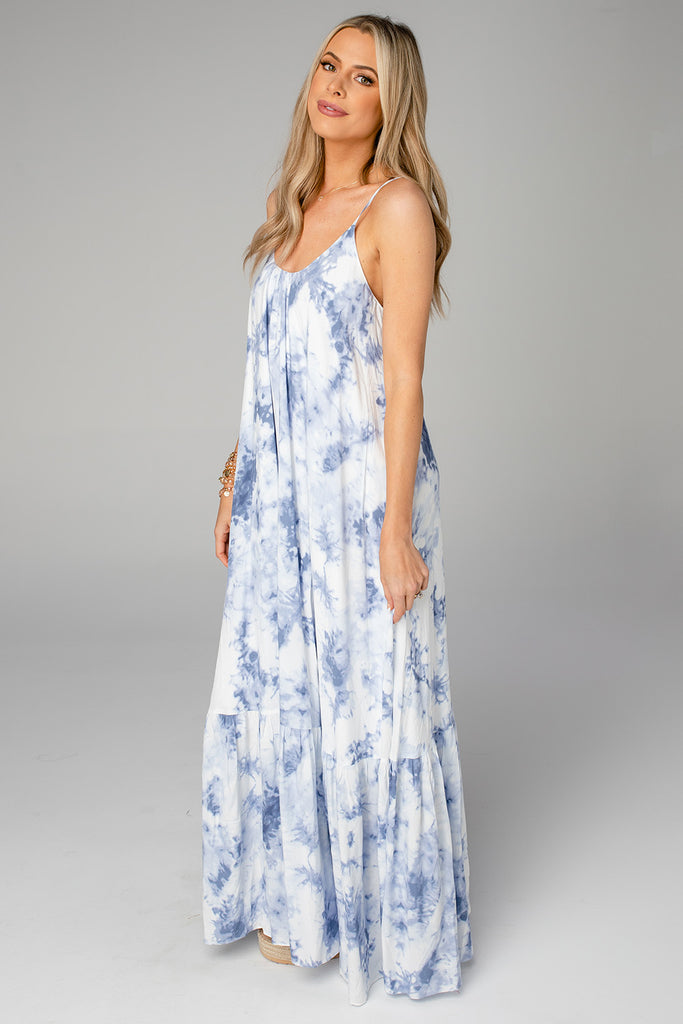 BuddyLove Katey Scooped Neck Maxi Dress - Blue Clouds (Pre-Order)