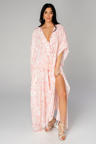 Mamie Caftan Maxi Dress - Peaches