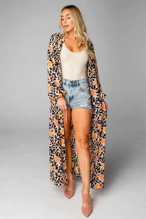 BuddyLove Loretta Long Sleeve Duster - Poppy Field