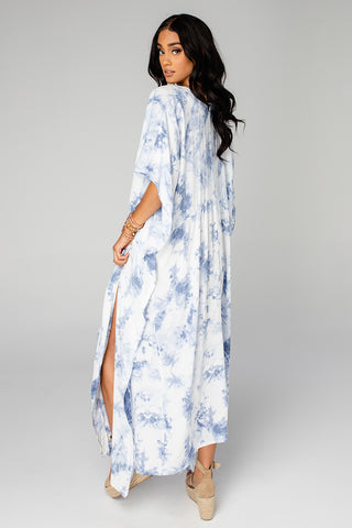 BuddyLove Mamie Caftan Maxi Dress - Blue Clouds (Pre-Order)