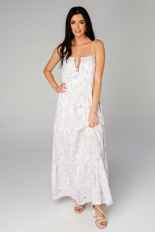 Reese Tie-Shoulder Maxi Dress - Quartz