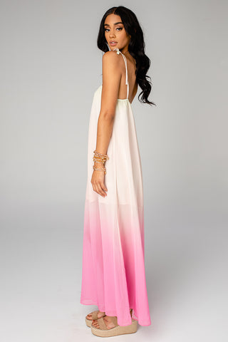 Barton Tie Shoulder Maxi Dress - Papaya (Pre-Order)