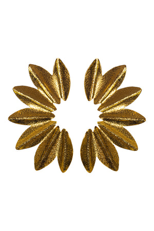 Carmen Petal Studded Earrrings - Gold