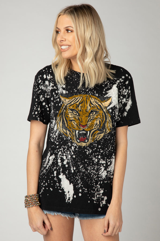 Carr Bleached Graphic Tee - Tiger