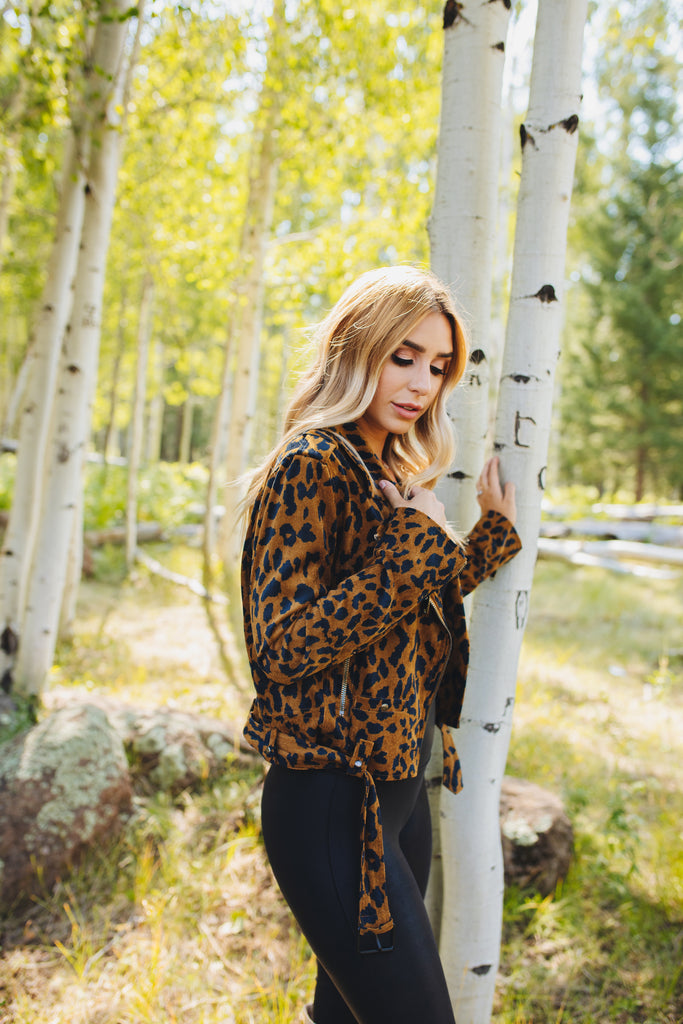 Cicely Corduroy Jacket - Leopard