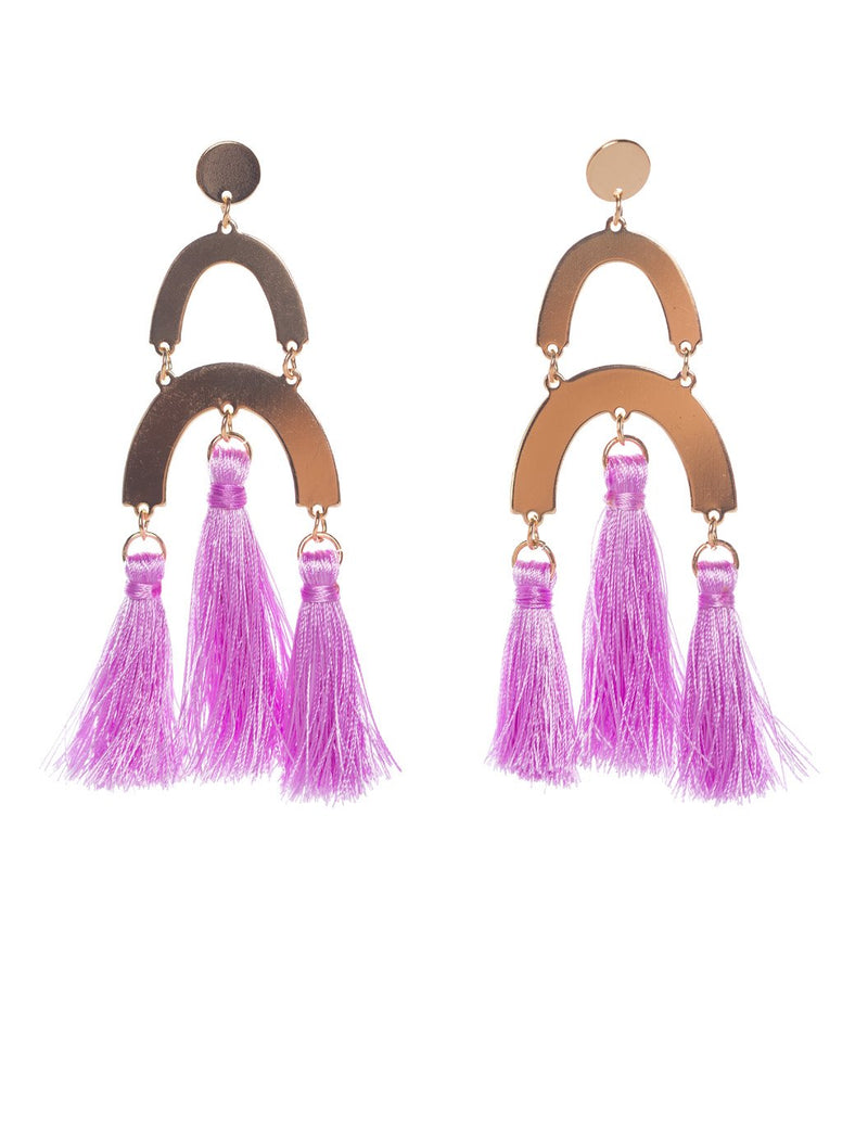 Dali Earrings- Purple