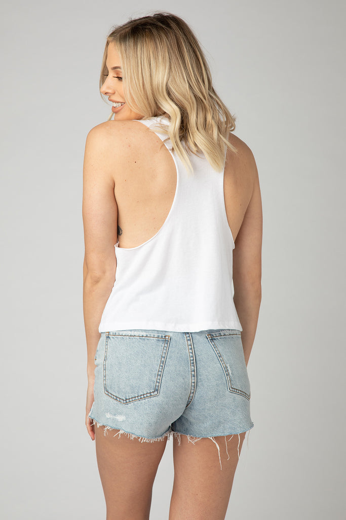 Dale Graphic Racerback Tank Top - Oh Hey Vacay