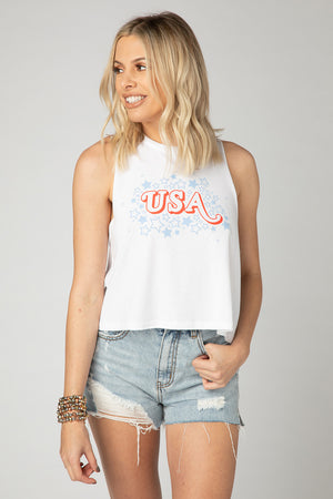 Dale Graphic Racerback  Tank Top - USA