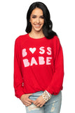 Gene Graphic Sweater - Boss Babe