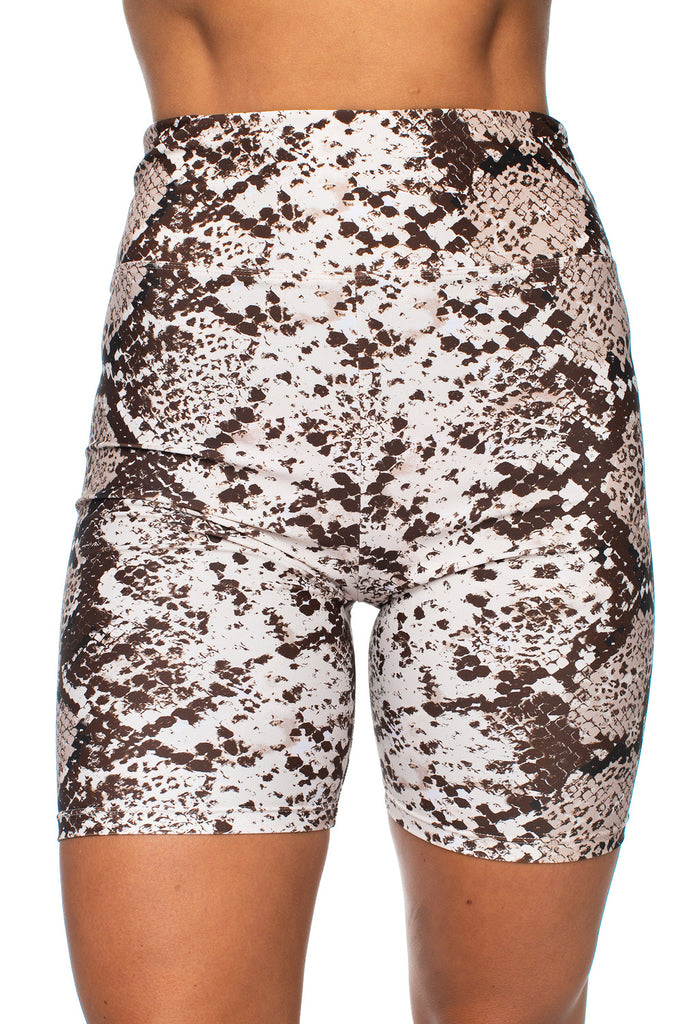 Lauren High Rise Waist Biker Shorts - Slither