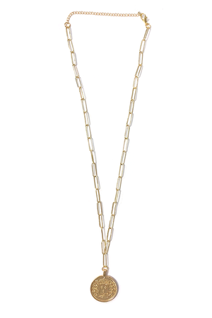Liam Coin Necklace - Gold