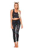 Michaels High-Waisted Legging - Rainbow Star