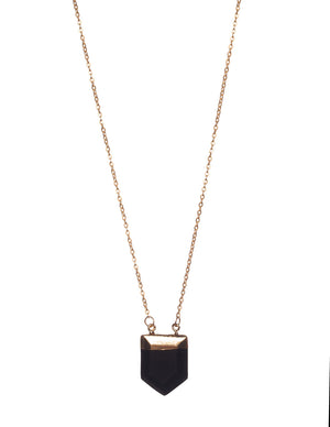 Spear Necklace- Black