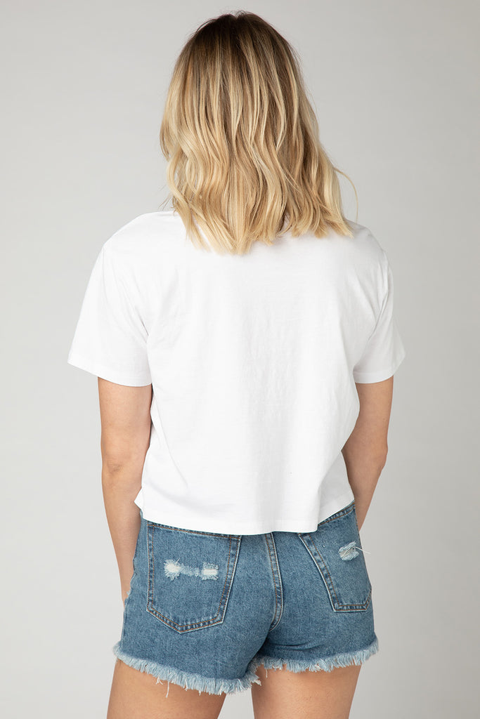 Marcus Cropped Tee - White