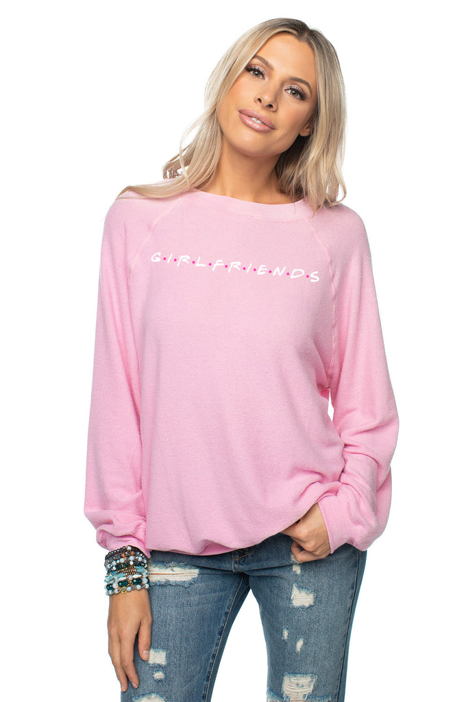 Courtney Graphic Sweater - Girlfriends