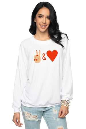 Keith Graphic Sweater - Peace and Love