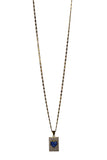 Pave Heart Necklace - Navy