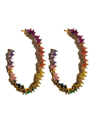 Riviera Rainbow Hoop Earrings - Multi