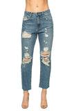 Ryan Distressed Skinny Jeans - Medium Wash