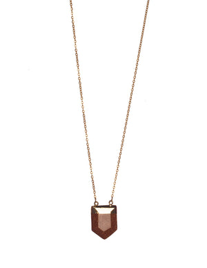 Spear Necklace- Brown