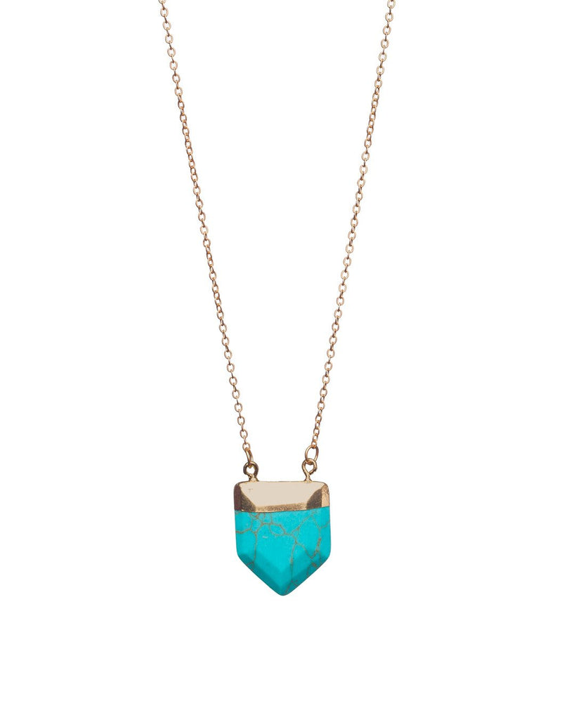 Spear Necklace- Turquoise