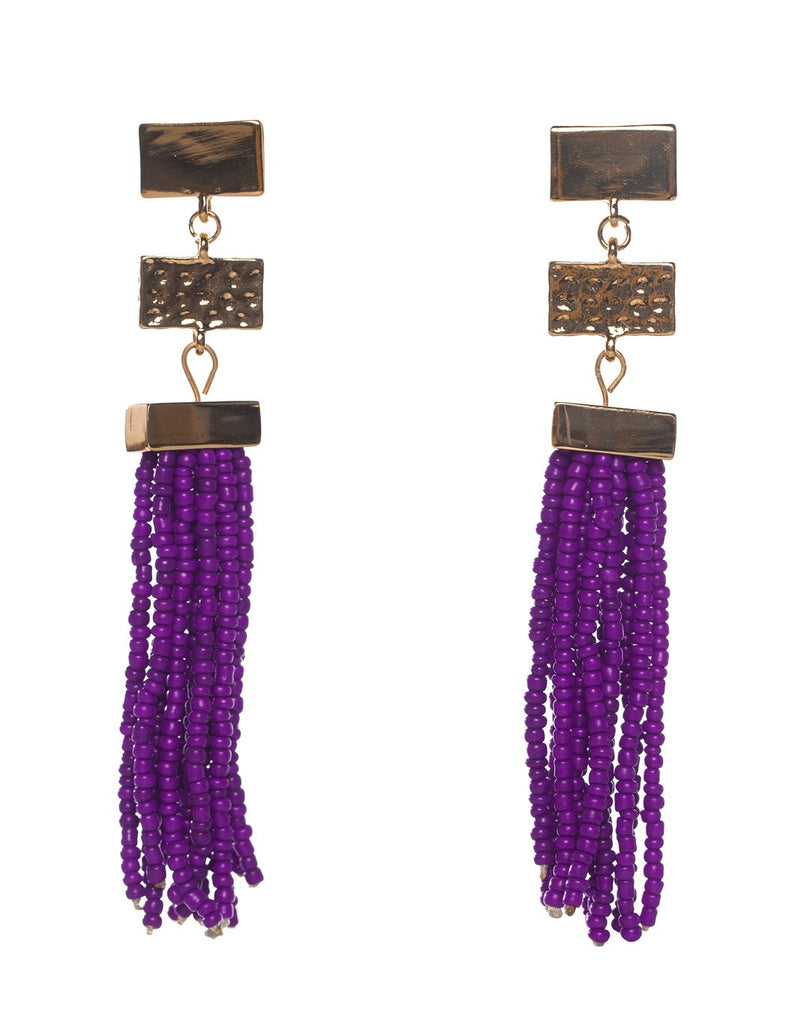 Stonehenge Earrings- Purple