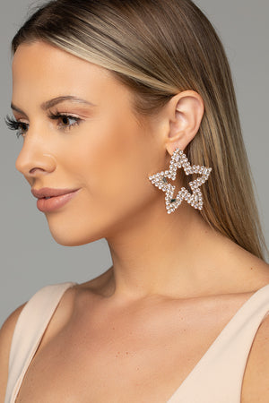 Starfish Statement Earring - Gold