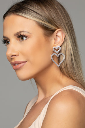 Sweetheart Drop Earring - Silver