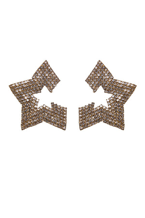 Taurus Star Studded Earrings - Gold