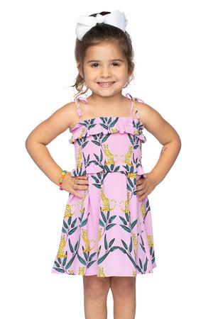 Vivienne Mini Dress - Jungle Cat