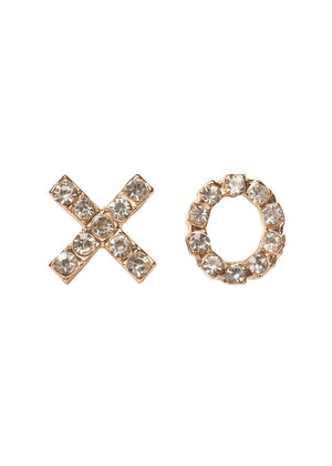 XO Stud Earrings - Gold