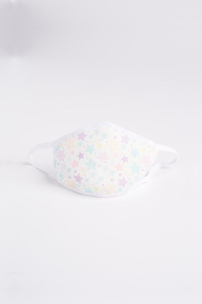 Reusable Kids Face Mask Pastel Stars