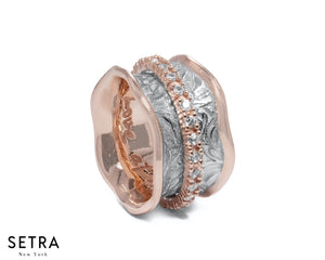 EQUALITY 14 kt FINE ROSE GOLD WITH  SHADOW SECRET-KEEPER DIAMOND BAND RING