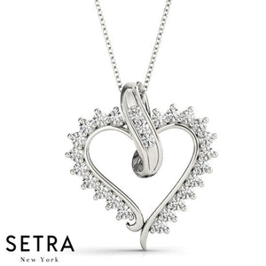 Diamond Heart Necklace 14kt Gold