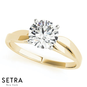SOLITAIRES DIAMOND ENGAGEMENT RINGS 14K GOLD