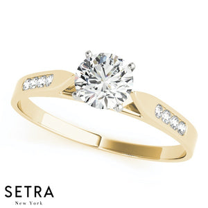 Dietrich Cathedral Channel Set Engagement Ring