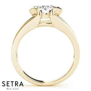 SOLITAIRE DIAMOND ENGAGEMENT 14K GOLD RINGS