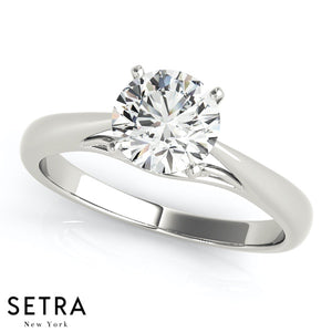 14kt Round Cut Diamond solitaire Engagement Ring