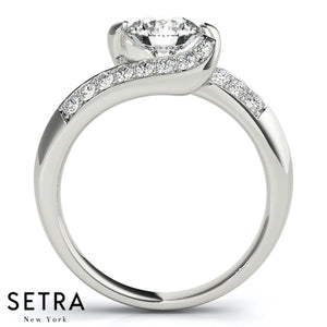 DIAMOND ENGAGEMENT RING 14K GOLD