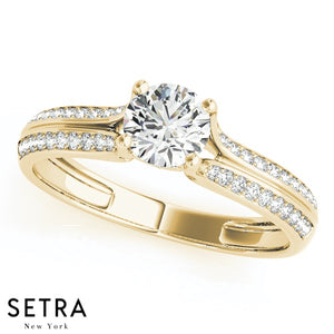 Split Shank Diamond Engagement Ring 14kt Gold