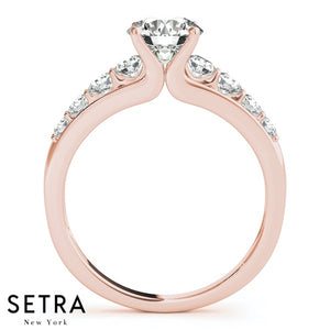 ENGAGEMENT RINGS NEW BRIDAL SINGLE ROW PRONG SET