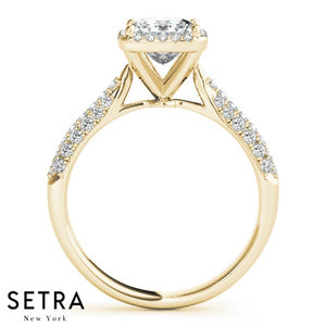 TWO TONE YELLWO & WIGHT 14K GOLD DIAMONDS ENGAGEMENT RINGS BYPASS