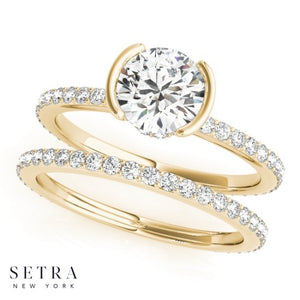 Simply Love Diamond Matching Engagement & Band 14kt Gold