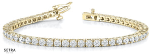 2.00ct Round Cut Diamonds Women's Bridal Solid Tannis Bracelet In 14k Gold