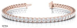 3.00ct Round Cut Diamonds Link Tennis Bracelet 14k Gold