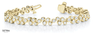 FINE 14kt GOLD DIAMOND TENNIS BRACELETS