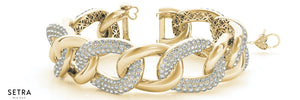 NEW BLING BRACELETS 11.52 CT DIAMONDS MICRO PAVE SETTING 14K GOLD