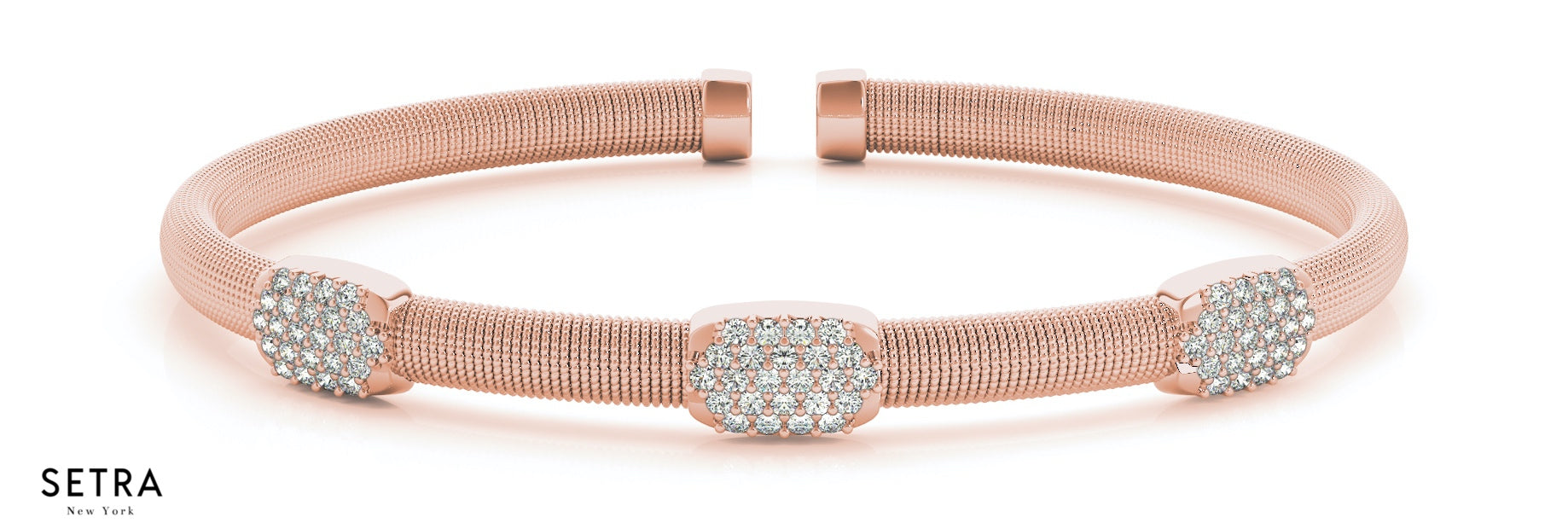 diamond pearl of mother itm bangle bracelet rose gold bangles