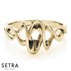 DESIGNER SETRA NEW YORK 14K GOLD RING