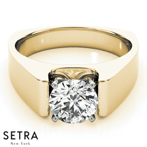 EUROPEAN SOLITAIRES DIAMOND ENGAGEMENT 14K GOLD RING